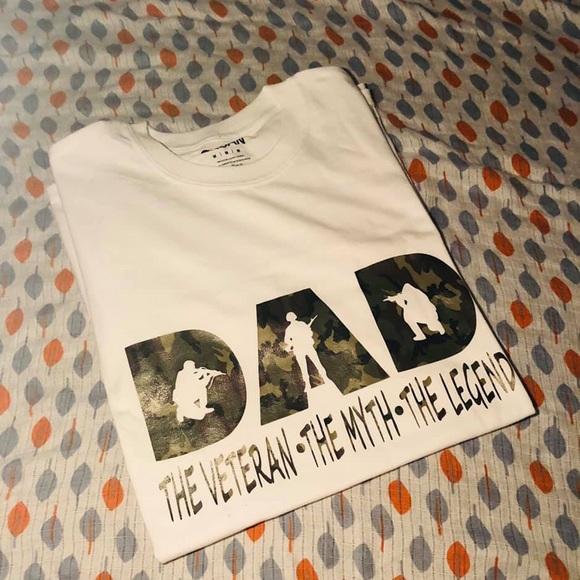 85171fe07 BataraCreations Shirts   Dad Veteran Shirt   Poshmark